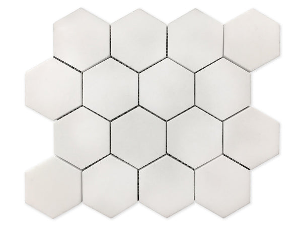 "3"" Thassos White Hex"