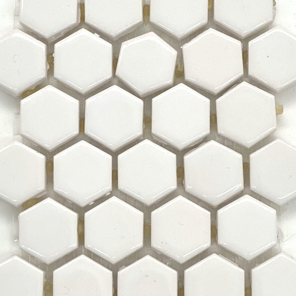"1"" x 1"" Mini Hex: White"