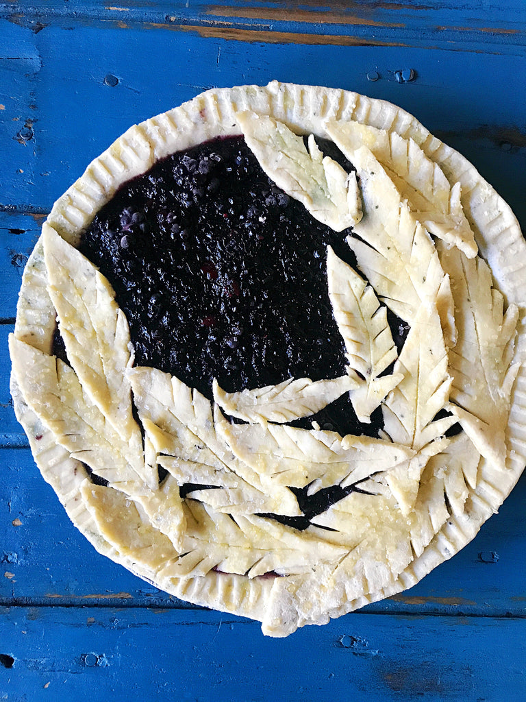 Blackberry Pie with a Fresh Thyme Crust