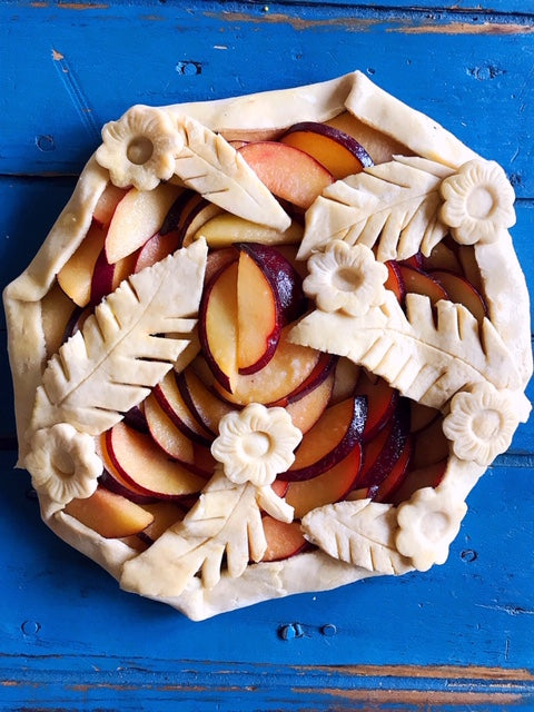 Brown Butter Almond Plum Galette