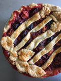 Brown Sugar Whiskey Plum Pie
