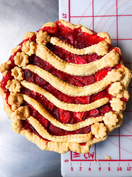 Strawberry Vanilla Bean Pie