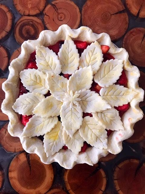 Strawberry Plum Pie