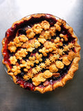 Apple blackberry Pie with a Fresh Thyme Crust