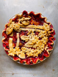 Plum and Nectarine Pie