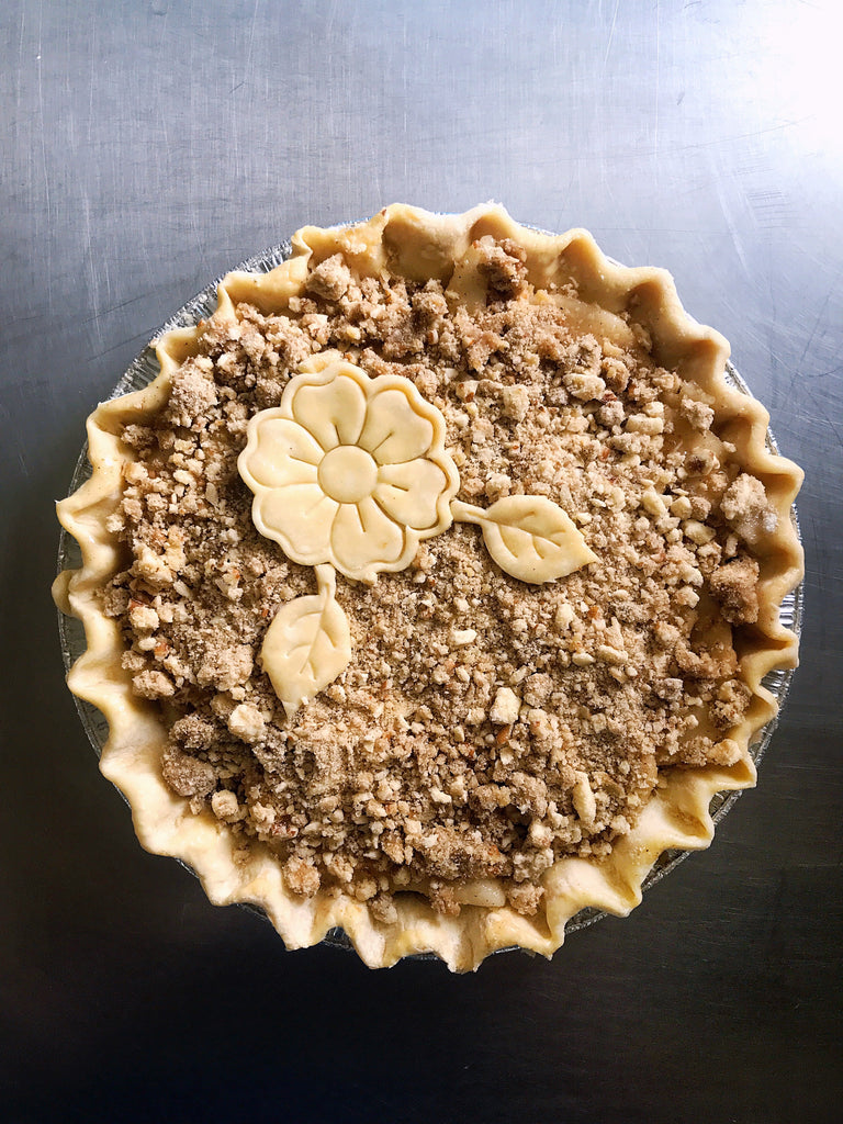 Spiced Pear Pie with Pecan Streusel