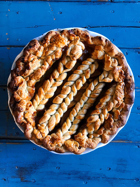 Brown Sugar Apple Pie with Miso Caramel