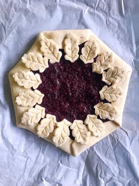 Marionberry and Raspberry Galette