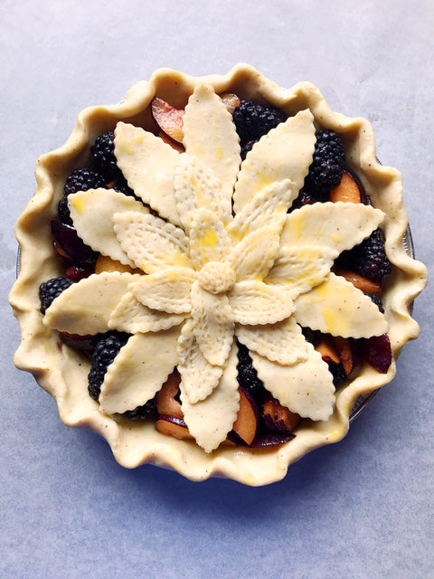 Blackberry Plum Black Pepper Pie