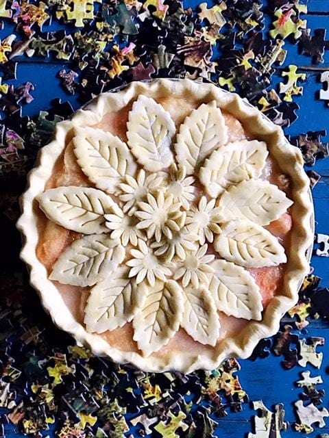 White Peach and Ginger Pie