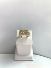 Load image into Gallery viewer, 14K Square Face CZ Ring