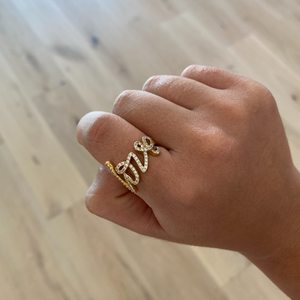 SOLID 14K LOVE RING
