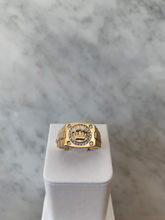 Load image into Gallery viewer, 14K Crown Watch Link Ring