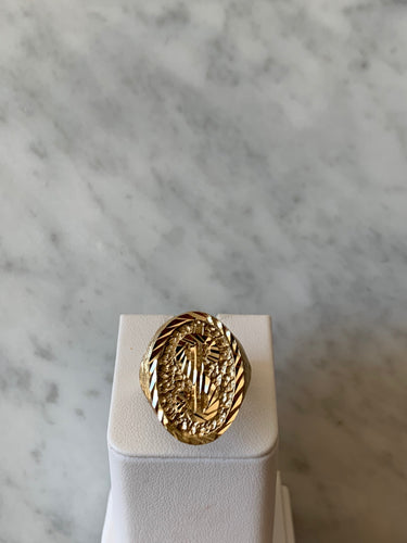 14K Dollar Sign Ring