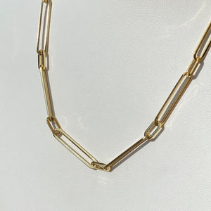14K Patterned PaperClip Chain