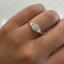 Load image into Gallery viewer, 14K CZ Ring w/ Double Hearts