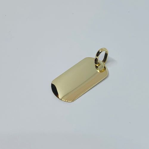 14K Mini Dog Tag