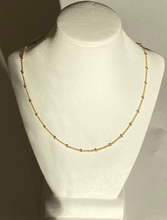 Load image into Gallery viewer, 14K White Beaded Adjustable Choker