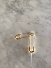 Load image into Gallery viewer, 14K Safety Pin Earring
