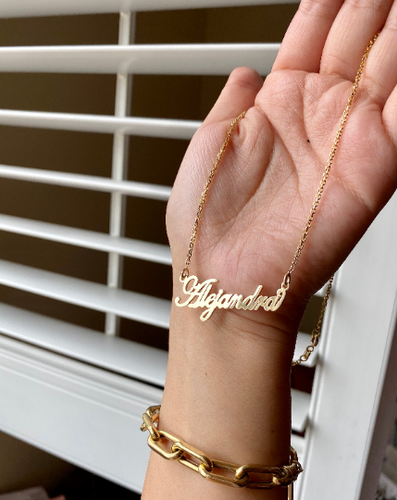 14K Custom Cursive Name Necklace