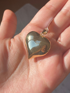 14K Bubble Heart Pendant