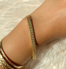 Load image into Gallery viewer, 14K Meander Bizmark Bracelet