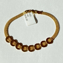 Load image into Gallery viewer, 14K Staggered Circle Bizmark Bracelet