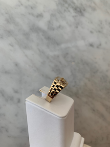 14K Crown Watch Link Ring