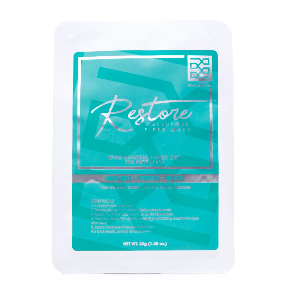 Cannatera Restore Facial Mask 10mg - Ultimate CBD