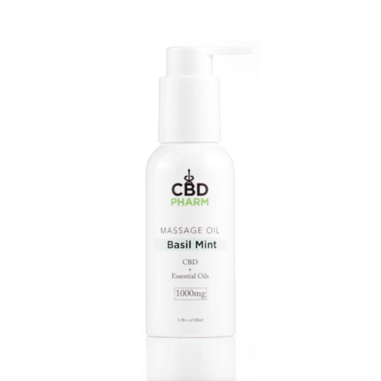 CBD Pharm Basil Mint Massage Oil 1000mg - Ultimate CBD