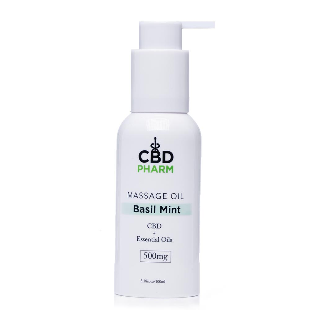 CBD Pharm Basil Mint Massage Oil 500mg - Ultimate CBD