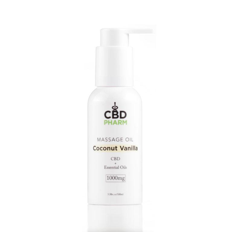 CBD Pharm Coconut Vanilla Massage Oil 1000mg - Ultimate CBD