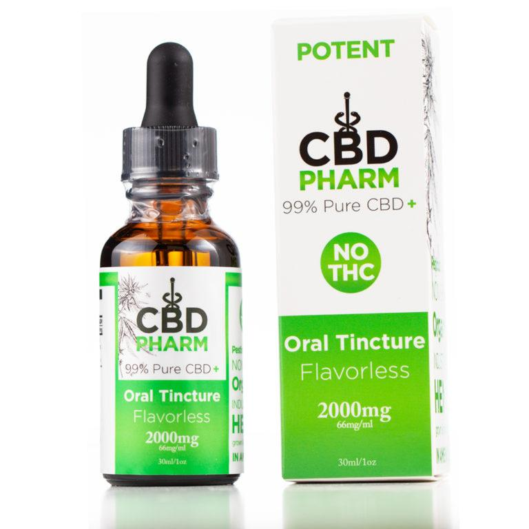 CBD Pharm Flavorless Tincture 2000mg - Ultimate CBD