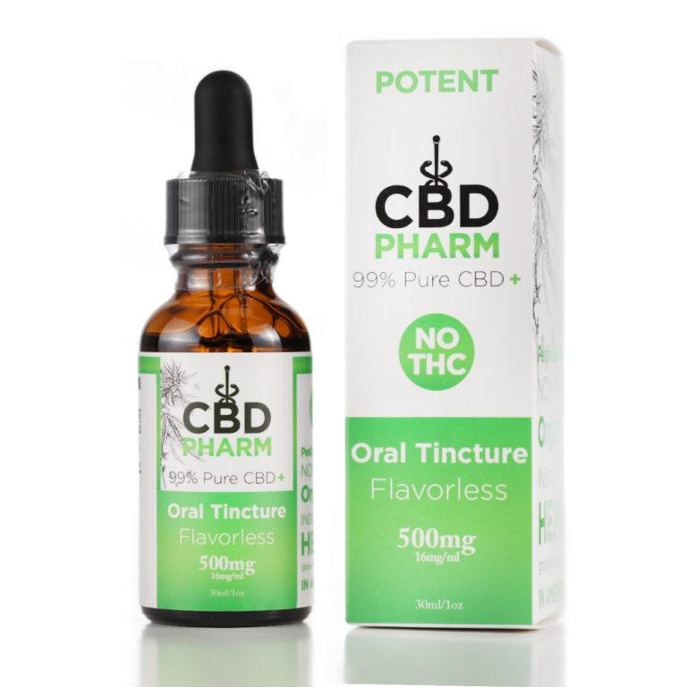 CBD Pharm Flavorless Tincture 500mg - Ultimate CBD