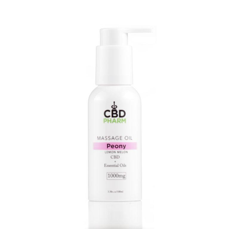 CBD Pharm Peony Massage Oil 1000mg - Ultimate CBD