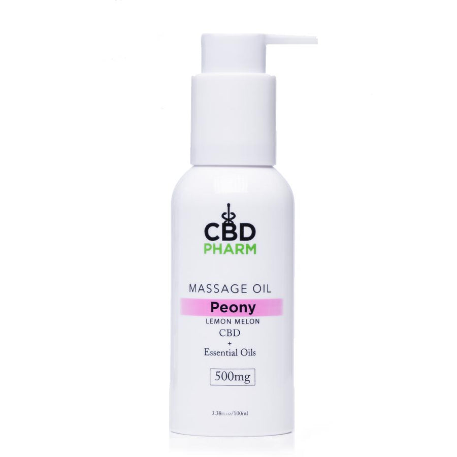 CBD Pharm Peony Massage Oil 500mg - Ultimate CBD