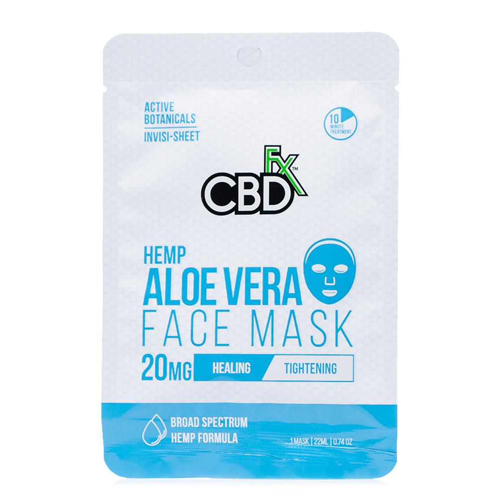 CBDfx Aloe Vera Hemp Face Mask 20mg - Ultimate CBD