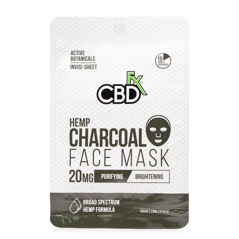 CBDfx Charcoal Hemp Face Mask 20mg - Ultimate CBD