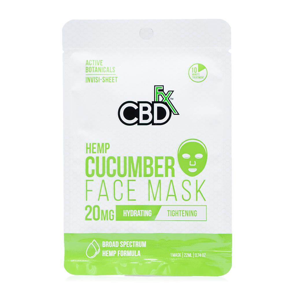 CBDfx Cucumber Hemp Face Mask 20mg - Ultimate CBD