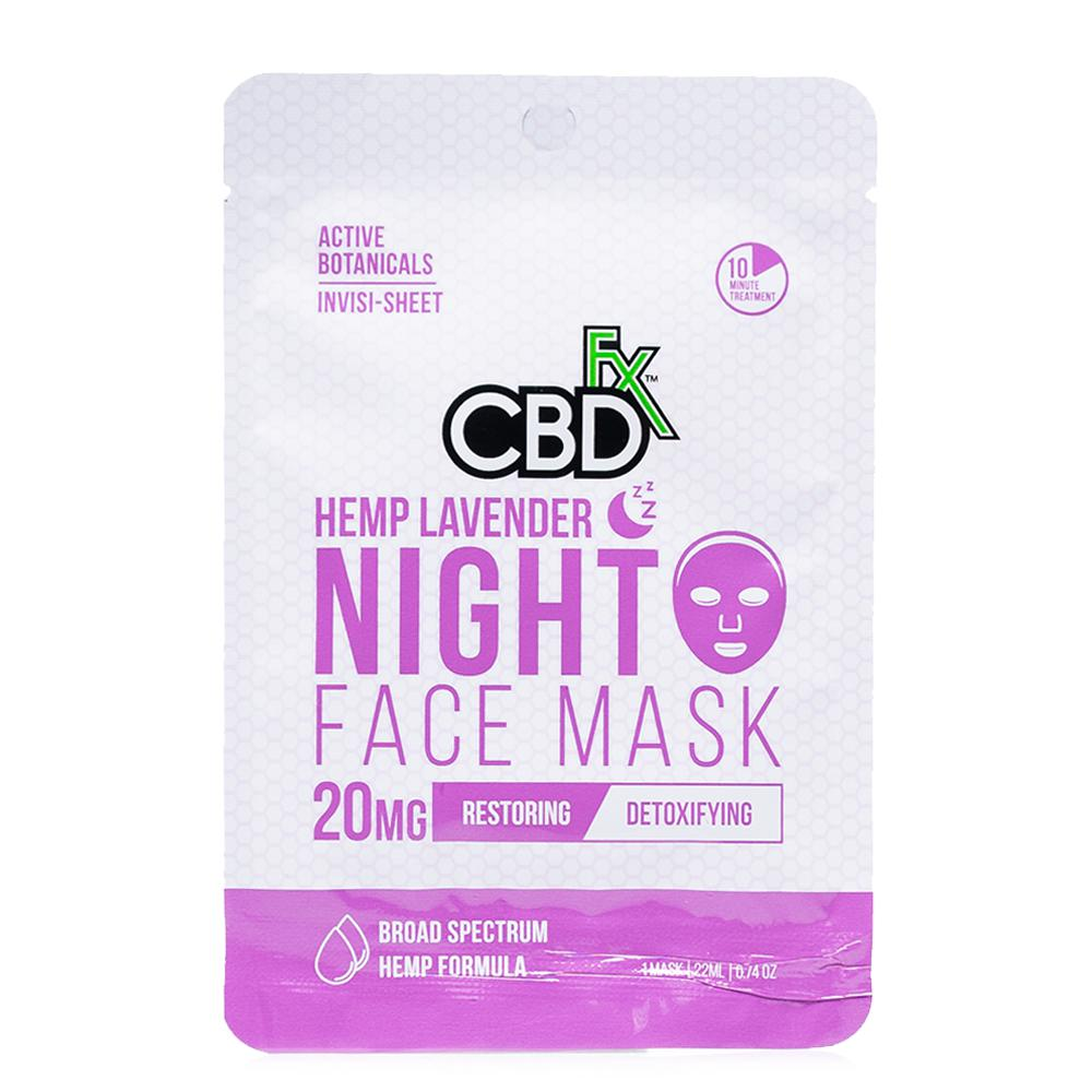 CBDfx Lavender Night Hemp Face Mask 20mg - Ultimate CBD