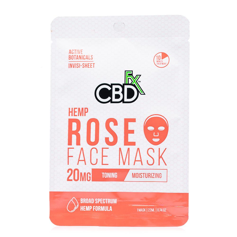 CBDfx Rose Hemp Face Mask 20mg - Ultimate CBD