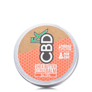 CBDfx Shea Butter Citrus Balm 150mg - Ultimate CBD