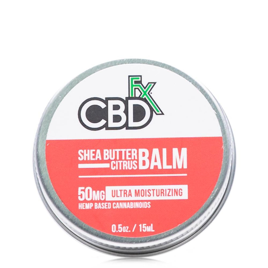 CBDfx Shea Butter Citrus Mini Balm 50mg - Ultimate CBD