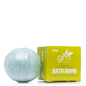 GRN CBD Eucalyptus and Lemongrass Bath Bomb 35mg - Ultimate CBD