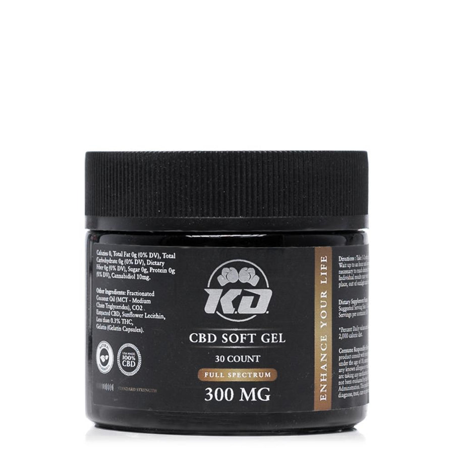 Knockout CBD Softgel Capsules 300mg - Ultimate CBD