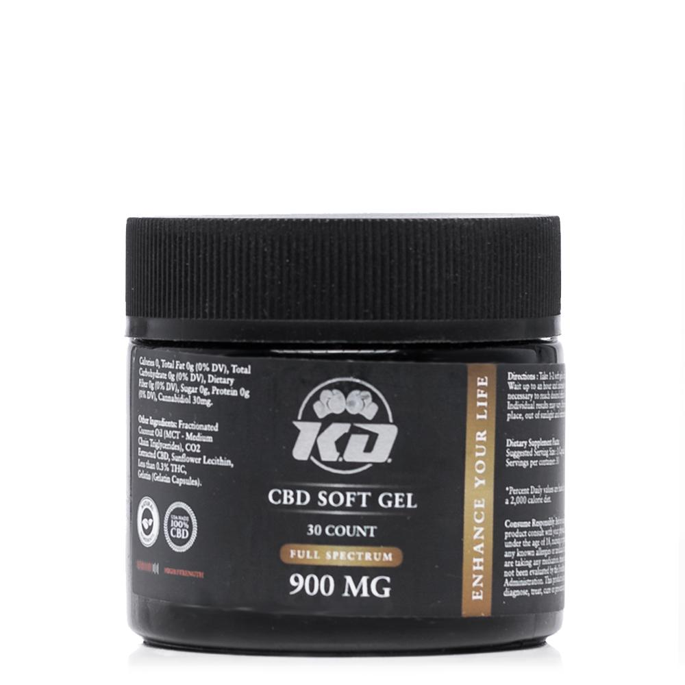 Knockout CBD Softgel Capsules 900mg - Ultimate CBD