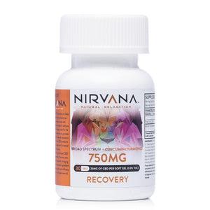 Nirvana CBD Curcumin Gel Capsules 750mg - Ultimate CBD