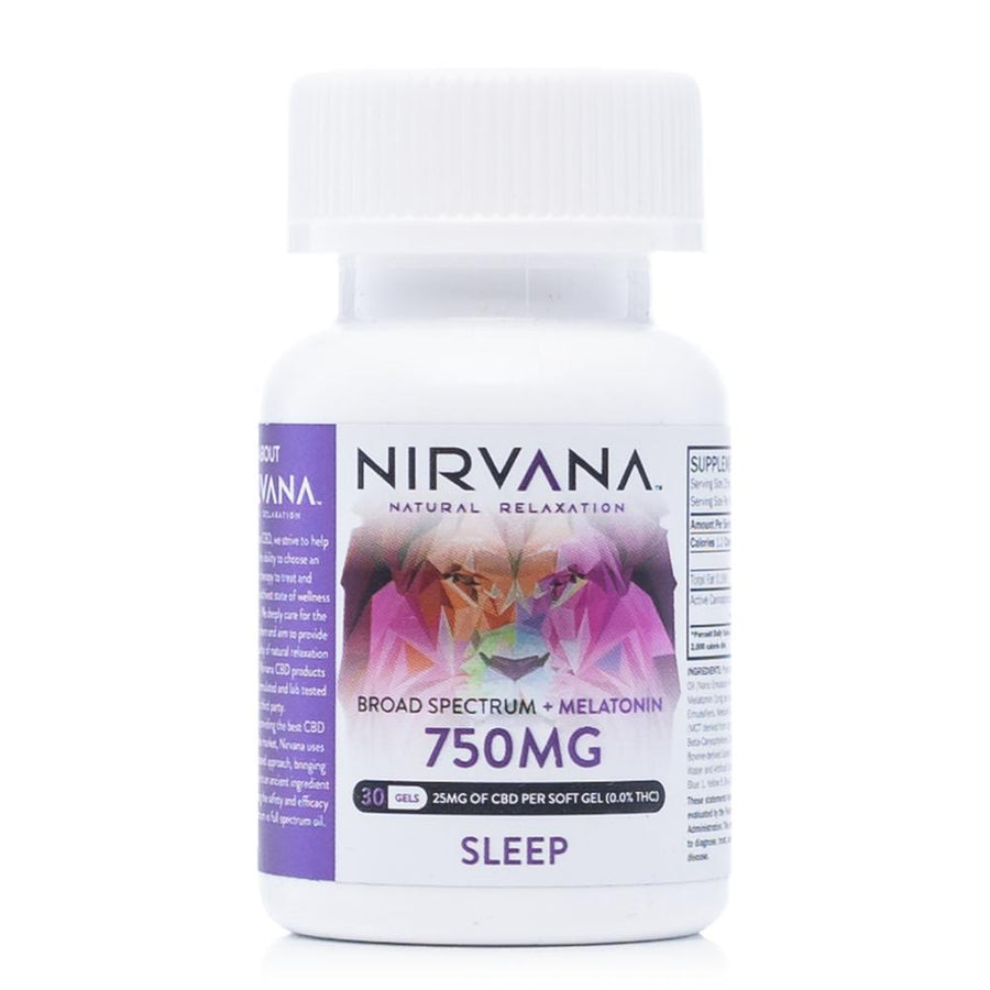 Nirvana CBD Melatonin Gel Capsules 750mg - Ultimate CBD