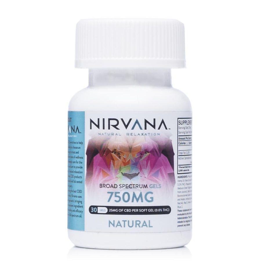 Nirvana CBD Natural Gel Capsules 750mg - Ultimate CBD