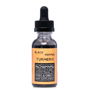 Pachamama CBD Black Pepper Turmeric Tincture 1750mg - Ultimate CBD